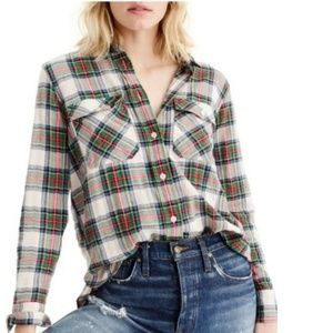 J. Crew Flannel Button-up Shirt Stewart Tartan